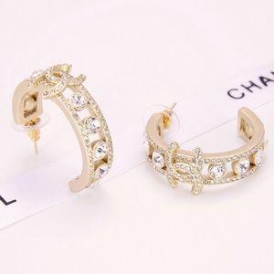 Chanel Earrings with diamonds